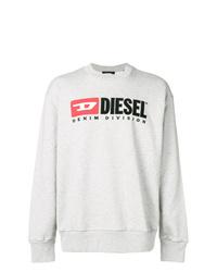 Sudadera estampada gris de Diesel