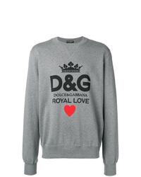 Sudadera estampada gris de Dolce & Gabbana