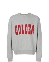 Sudadera estampada gris de Golden Goose Deluxe Brand
