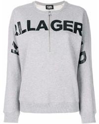 Sudadera estampada gris de Karl Lagerfeld