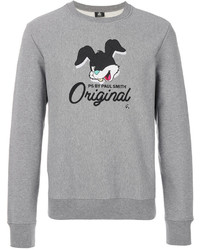 Sudadera estampada gris de Paul Smith