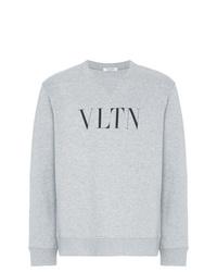 Sudadera estampada gris de Valentino