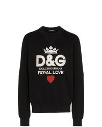 Sudadera estampada negra de Dolce & Gabbana