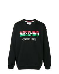 Sudadera estampada negra de Moschino