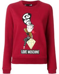 Sudadera roja de Love Moschino