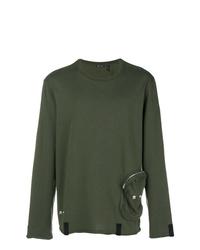 Sudadera verde oliva de Helmut Lang