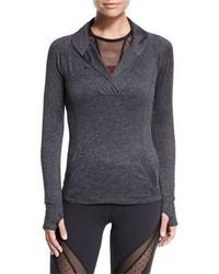 Suéter con cuello chal en gris oscuro de Beyond Yoga