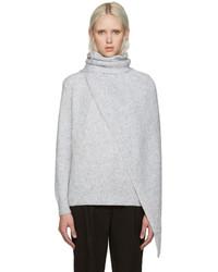 Suéter con cuello chal gris de Kenzo