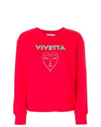 Sweat-shirt imprimé rouge