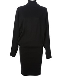 Black leggings and a sweater dress are great essentials to incorporate into your current wardrobe.