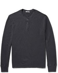 T-shirt à col boutonné gris foncé James Perse