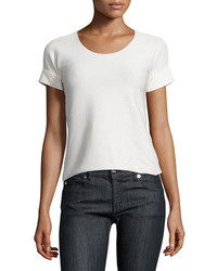 T-shirt à col rond blanc Armani Collezioni