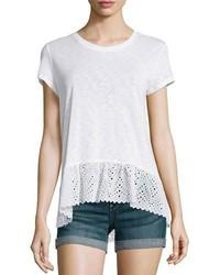 T-shirt à col rond blanc Generation Love