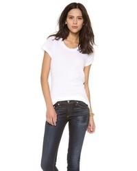 T-shirt à col rond blanc LnA