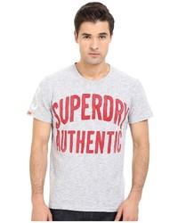 T-shirt à col rond blanc Superdry