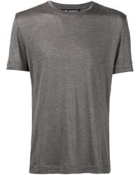 T-shirt à col rond gris Neil Barrett