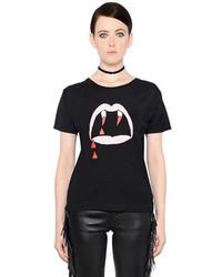 T shirt a col rond imprime original 4110611