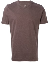 T shirt a col rond marron original 387090