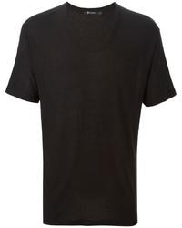 T-shirt à col rond noir Alexander Wang