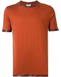 T-shirt à col rond orange Maison Margiela