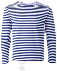T-shirt à manche longue à rayures horizontales bleu