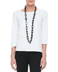 T-shirt à manche longue blanc Eileen Fisher
