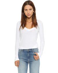 T-shirt à manche longue blanc James Perse
