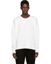 T-shirt à manche longue blanc Lemaire