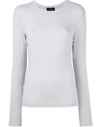 T-shirt à manche longue blanc Les Copains