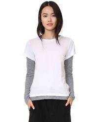 T-shirt à manche longue blanc Monrow