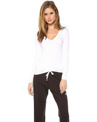 T-shirt à manche longue blanc Three Dots