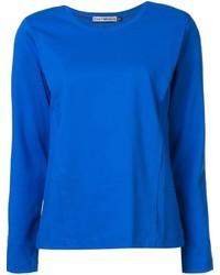 T-shirt à manche longue bleu Issey Miyake