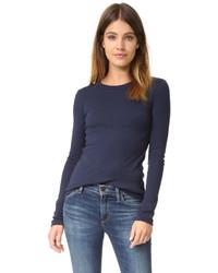 T-shirt à manche longue bleu Petit Bateau