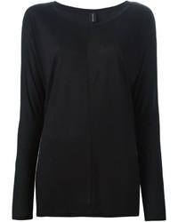 T-shirt à manche longue noir Alexandre Vauthier