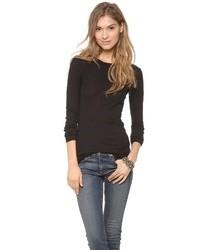 T-shirt à manche longue noir Enza Costa