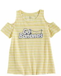 T-shirt à rayures horizontales jaune