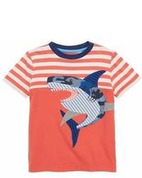 T-shirt à rayures horizontales rouge et blanc