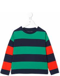 T-shirt à rayures horizontales vert