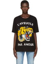 T-shirt imprimé noir Gucci