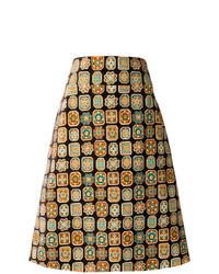 La Doublej A Line Piastrelle Skirt