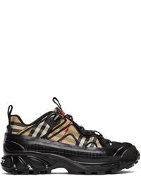 Burberry Beige Black Check Arthur Sneakers