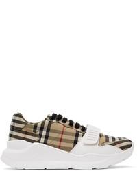 Burberry Beige Vintage Check Sneakers