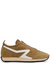 rag & bone Brown Suede Retro Runner Sneakers