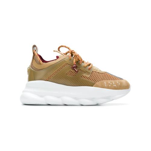 Versace Chunky Running Sneakers, $1,162