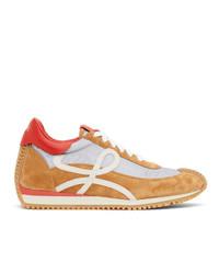 Loewe Grey And Tan Flow Runner Sneakers