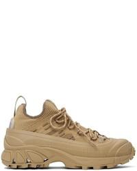Burberry Khaki Knit Arthur Sneakers