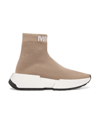 MM6 MAISON MARGIELA Logo Jacquard Ribbed Stretch Mesh Sneakers