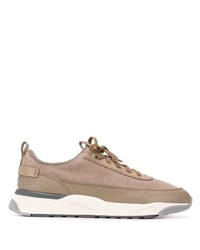 Santoni Panelled Lace Up Sneakers
