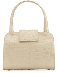 Nancy Gonzalez Crocodile Rounded Satchel Bag Champagne