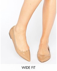 Asos Lacey Wide Fit Pointed Ballet Flats